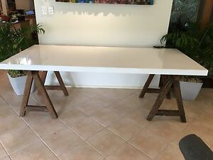 Beautiful trestle/ dining table Torrens Park Mitcham Area Preview