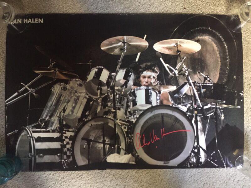 Alex Van Halen 1981 + Van Halen 1982 vintage live poster lot 23x35