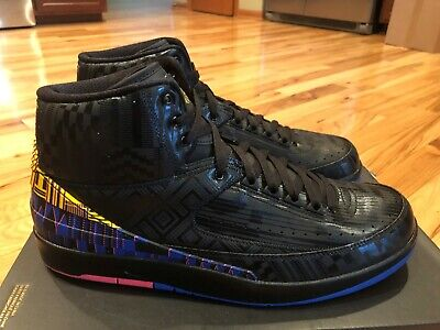Nike Air Jordan 2 Retro BHM Black Metallic Gold BQ7618 007 Size 14 NOBOXTOP
