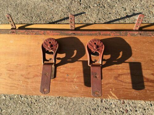 antique barn door rollers  / architectural salvage door rollers