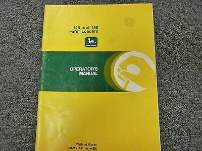 John Deere 148 158 Farm Loader Attachment Owner Operator Manual Omw21451
