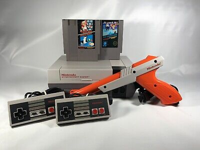 Nintendo NES Action Set System Console Bundle Mario/Duck Hunt & Pro Wrestling!