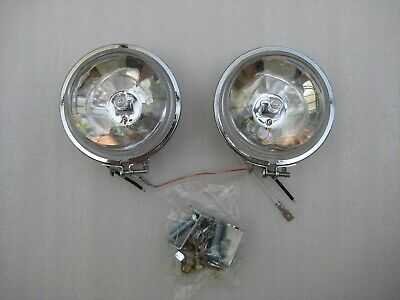 Motorcycle Motorbike Driving Lights Spot Lights With Clear Lens, One Pair