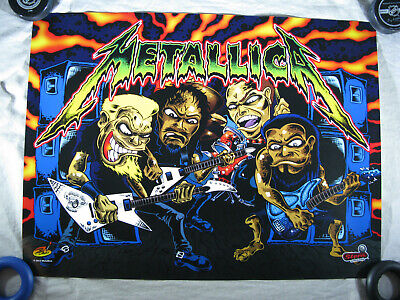 Metallica Pro Pinball Machine AUTHENTIC STERN TRANSLITE Backglass NOS MINT!