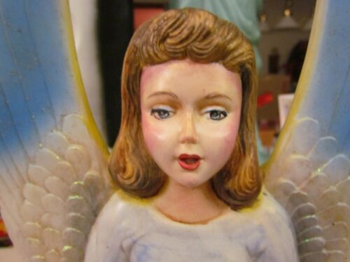 Vintage Union Products Christmas Hard Plastic Handpainted Angel with Light Cord