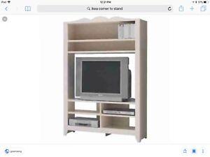 Corner TV stand $50