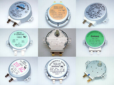 Microwave Oven Turntable Motors -- Various Makes -- Couplers Available