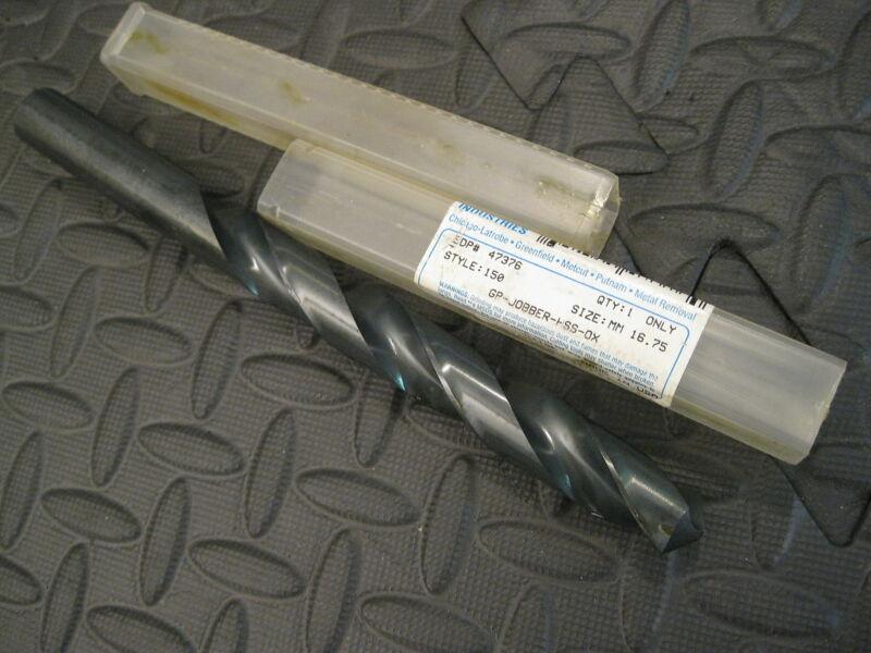 """16.75mm - (.6594"""") Jobber Drill, HSS, Greenfield        EDP47376"""