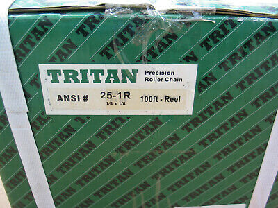 Tritan 25 Roller Chain 100 Feet With 10 Connecting Links On Wood Spool