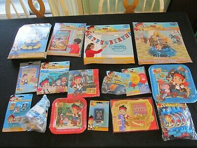 Jake And Neverland Pirates Decorations (Lot JAKE and the NEVERLAND PIRATES Party Supplies BUNDLE for 8 Guests, Kit,)
