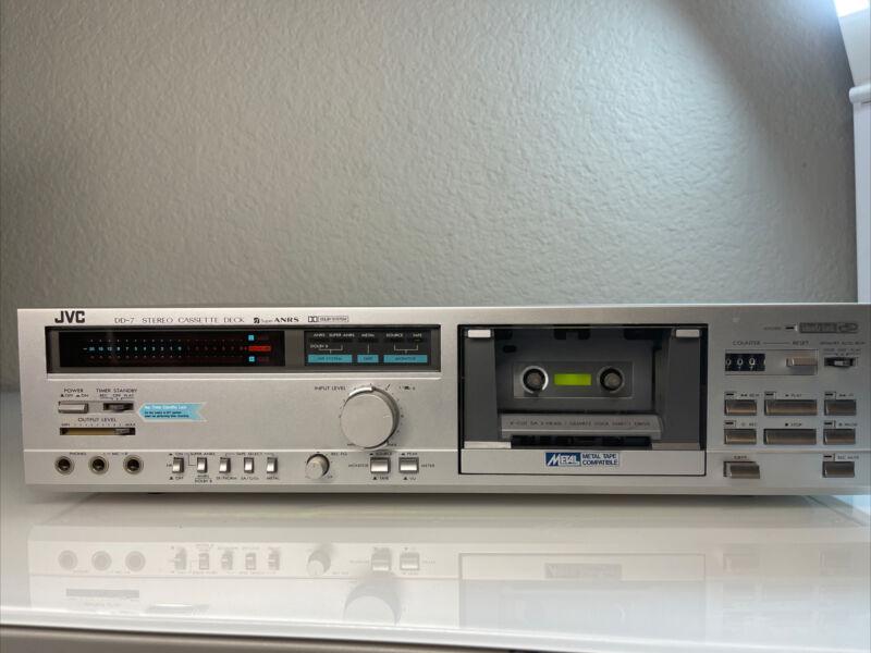 Super Rare !! JVC DD-7J Stereo Cassette Deck Deck Tested!!