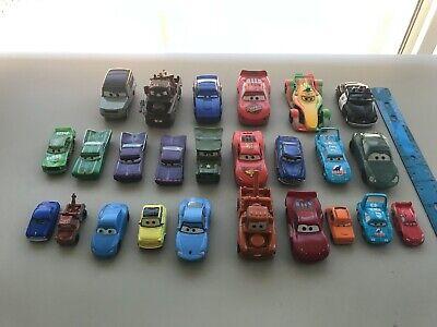 Lot of 25 Total - Disney PIXAR Cars Movie Diecast Metal 1:55 and Plastic Set
