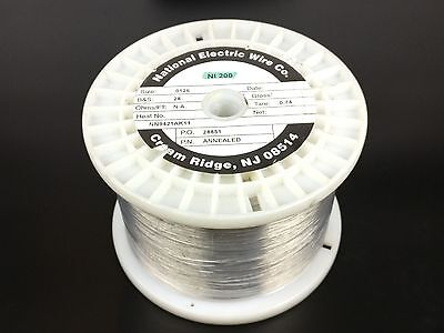 Pure Nickel Wire 28 Gauge 9.28 Lb 19395 Ft Non Resistance Awg Ni200 Nickel 200