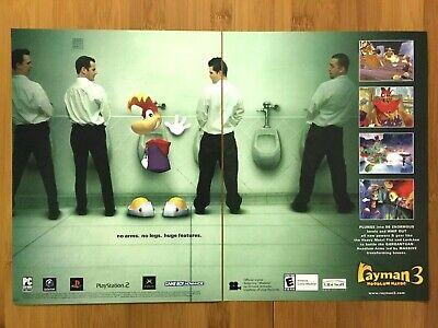 Rayman 3: Hoodlum Havoc Gamecube PS2 2003 Vintage Print Ad/Poster Official Art!