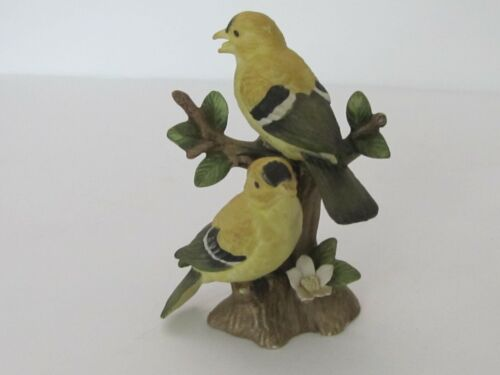 Lefton Yellow Finches #02203 1983 hand painted