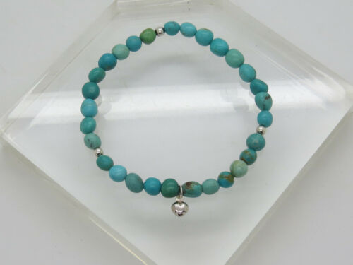 NWOT DTR JAY KING DESERT ROSE Sterling Silver .925 Turquoise Stretch Bracelet