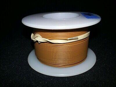 24 Awg Solid Kynar Wire Ul1423 Brown 100 Ft Spool