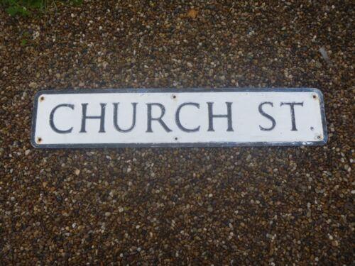 "20th Century Metal Street Sign...""CHURCH ST""...iDEAL:Man Cave,Display,Prop!!"
