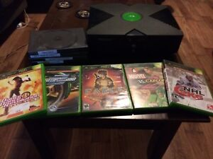 Original Xbox with 10 Games