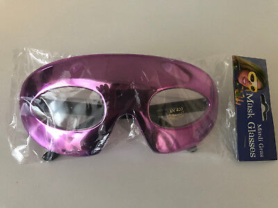 Adult Women Men Unisex Mardi Gras Mask Halloween Party Glasses  - Purple - - Purple Mardi Gras Mask