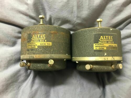 Altec Lansing 802B 802-B HF drivers Iconic close serial numbers VOTT vintage
