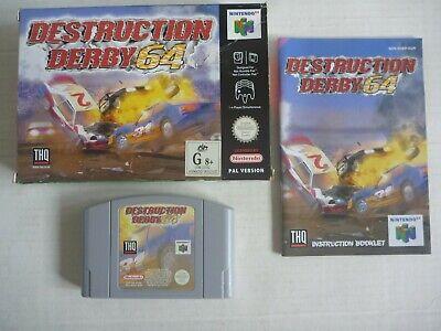 N64 NINTENDO 64 original DESTRUCTION DERBY game cartridge cart PAL 1999 COMPLETE