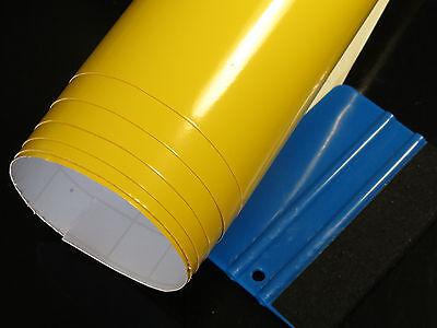 Gelb glanz Folie Wrapping Car Auto Folien Blasenfrei Luftkanäle