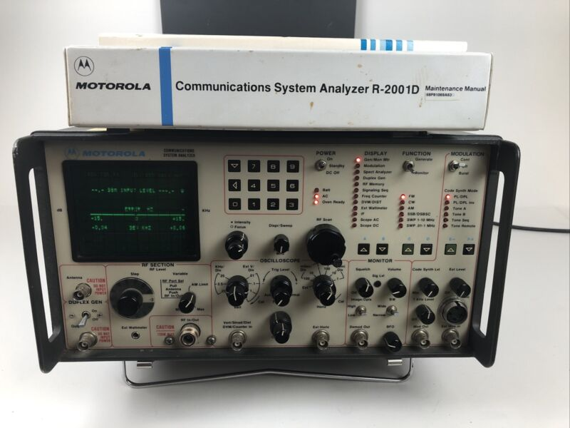 MOTOROLA Communications System Analyzer Model R2001D With Manuals