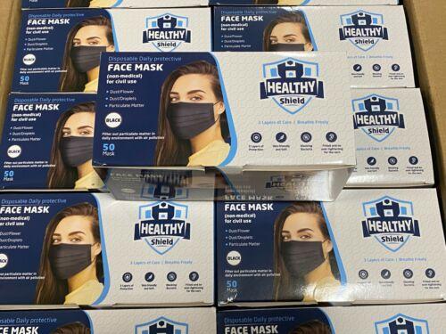 50 / 100 PCS Black&White Face Mask Mouth & Nose Protector Respirator Masks USA