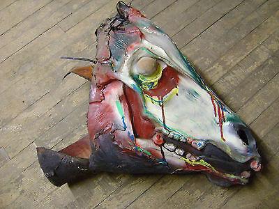 HALLOWEEN PROP BLACKLIGHT GLOW PET CEMETEREY MULTI COLOR SKELETON HORSE HEAD](Halloween Skeleton Horse)