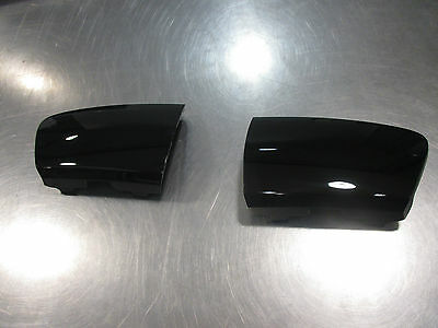 Mazda Mx-5 Miata 2009-2015 New OEM left and right front black tow hook cover set