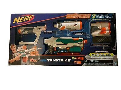 New (NIB) NERF Modulus Tri-Strike Blaster Toy
