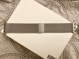 Brand New Silver 38mm Apple Watch Milanese Loop Band