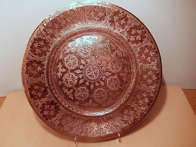 Dish round Copper Africa North Art Islamic near Middle Orient