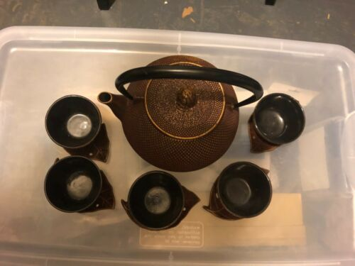 Japanese cast iron tea set