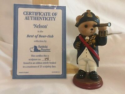 the hamilton collection faithful fuzzies best of beartish Nelson 5.5 inch