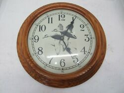 16 Wood and Glass Duck Wall Clock