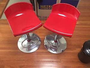2 Red Bar Stools. Leichhardt Leichhardt Area Preview
