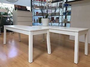 Long coffee table white Stirling Adelaide Hills Preview