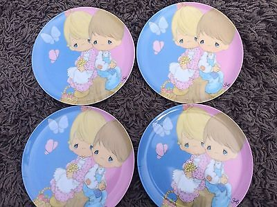 Precious Moments Child Plastic Dinner Plate set of 4