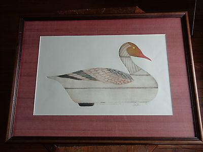 Arthur Nevin Snow Goose Decoy Y3 Scale Print, Signed 129/150 Penobscot Bay. 1960