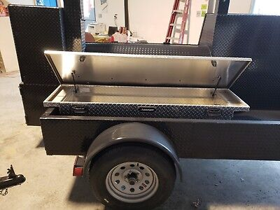 Start A Bbq Catering Business Smoker 48 Grill Trailer Food Truck W Locks Storage