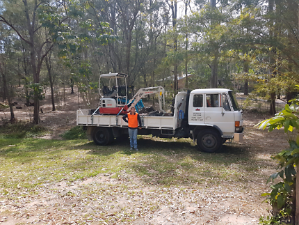 $95hr mini micro bobcat excavator and tipper hire combo