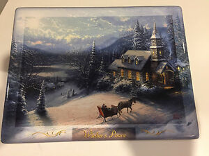 Winters' Peace collectible plate