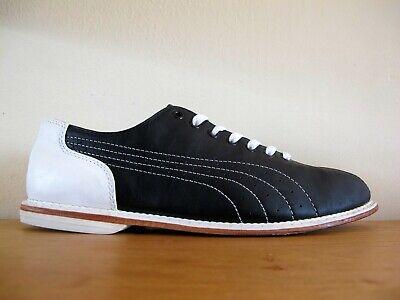 Rare VTG Puma Black & White Bowling Shoes Men's sz US 10 (UK9) sneaker brunswick