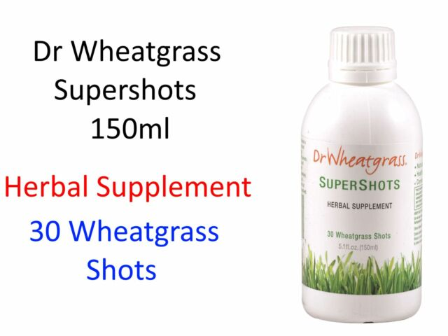 Dr Wheatgrass Supershots 150ml ( Herbal Supplement ) GLUTEN FREE