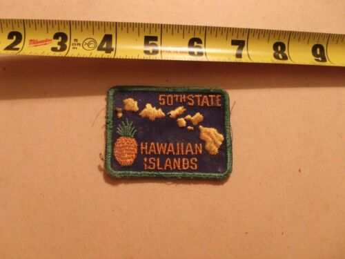 VINTAGE EMBROIDERED SOUVENIR PATCH USA COUNTRY TRAVEL HAWAII HAWAIIAN ISLANDS