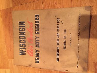Wisconsin Engine Rebuild Instructions Parts Manual Model Th Thd
