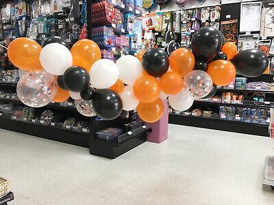 Orange Latex Balloons (44pcs Latex Black, Orange, White, Confetti Balloons Halloween Balloon)