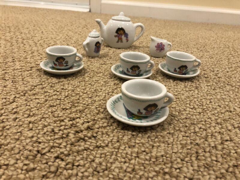 Dora The Explorer 8 Piece Porcelain Mini Tea Set
